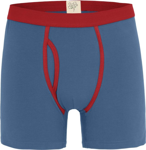 Boxer-Shorts aus Bio-Baumwolle - denimblau