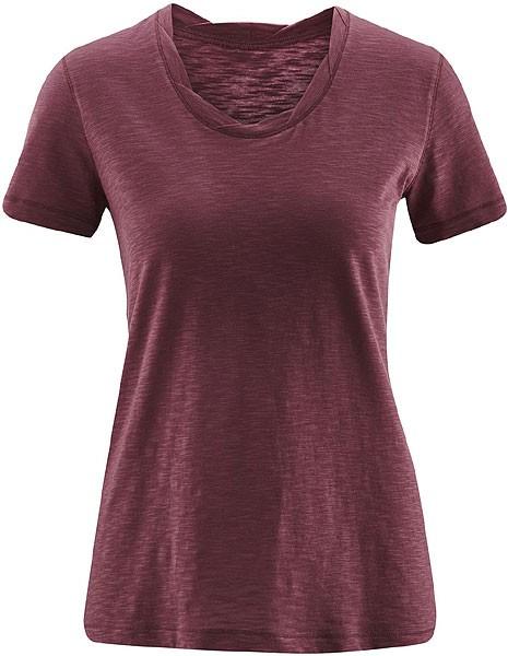Twisted Neckline T-Shirt aus Biobaumwolle - light grape - Bild 1