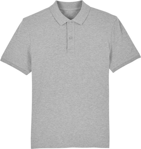 Piqué-Poloshirt aus Bio-Baumwolle - heather grey
