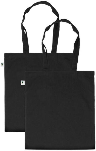 Doppelpack - Fairtrade Tasche aus Bio-Baumwolle - schwarz