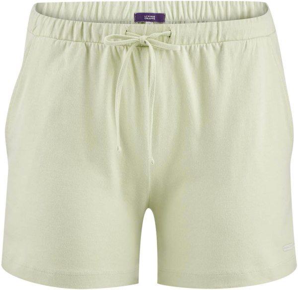 Schlaf-Shorts aus Bio-Baumwolle - milky green