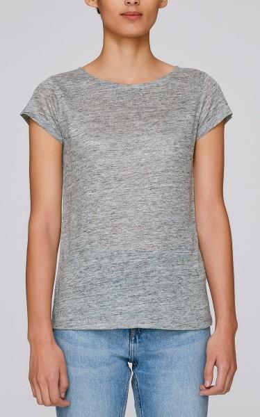 Glows Linen - Boatneck T-Shirt aus Leinen - mid heather grey - Bild 1