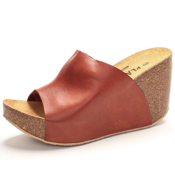 Sandalette breiter Riemen braun 433112