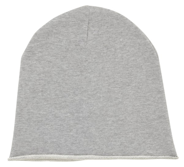 Beanie aus Bio-Baumwolle - heather grey