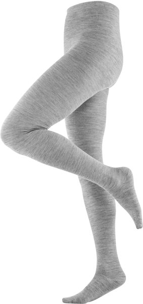 Strumpfhose aus Bio-Wolle und Bio-Baumwolle - grey melange