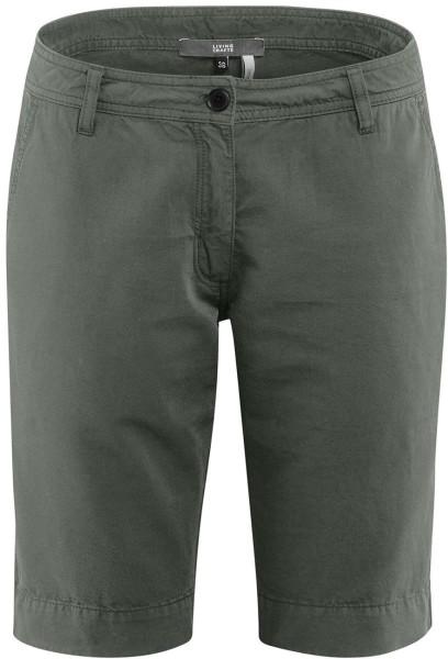 Bermuda-Shorts Bio-Baumwolle und Leinen - khaki