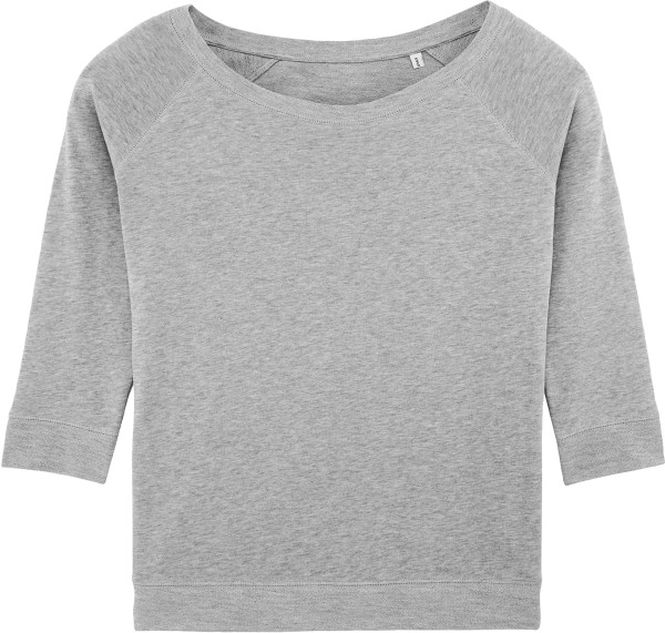 3/4-Arm Sweatshirt aus Bio-Baumwolle und Tencel - heather grey