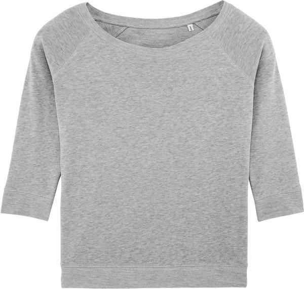Amazes - Sweater aus Biobaumwolle - grau meliert
