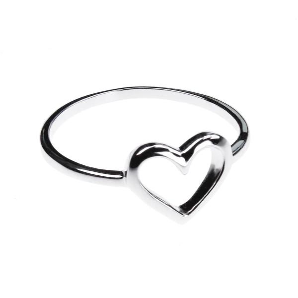 Herz Ring I – weiß vergoldet