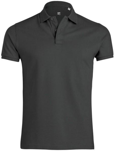 Piqué-Poloshirt aus Bio-Baumwolle - anthrazit