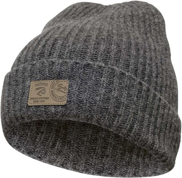 Roa - Wollmütze mit Umschlag - grey