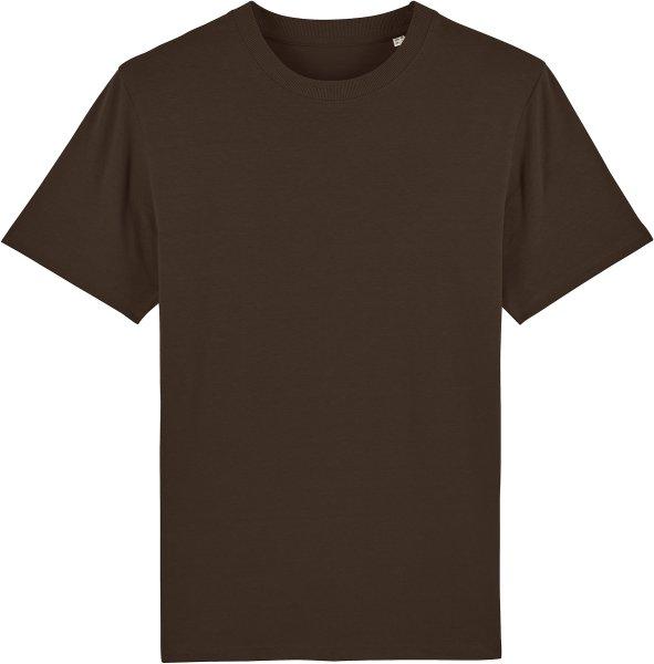 T-Shirt aus schwerem Stoff aus Bio-Baumwolle - deep chocolate