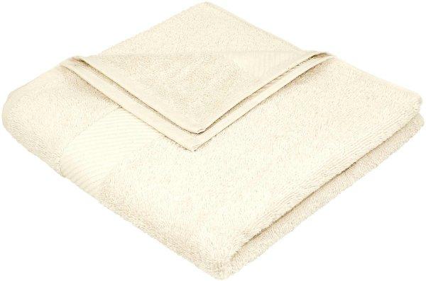 Handtuch aus Bio-Baumwolle - 50x100 natur - Bild 1