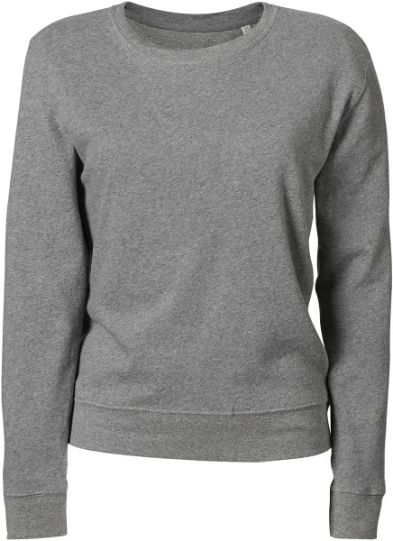 Leichter Sweater aus Biobaumwolle - mid heather grey