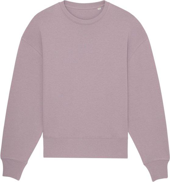 Oversized Unisex Sweatshirt aus Bio-Baumwolle - lilac petal