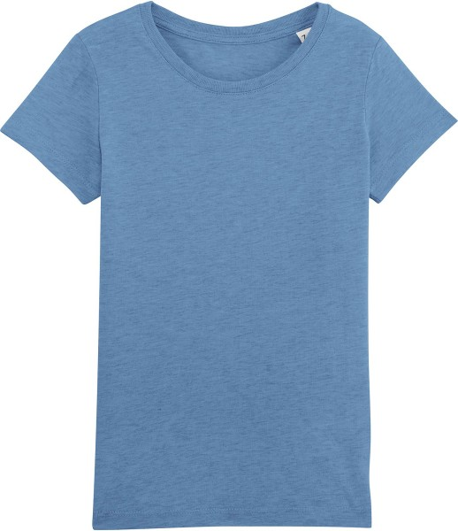 Kinder T-Shirt - Mini Draws Bio-Baumwolle - blau meliert - Bild 1