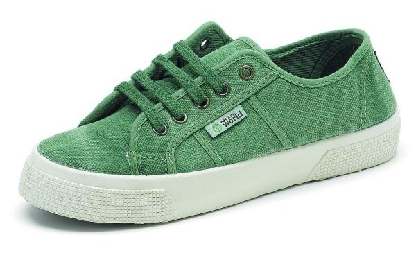 Basket Enzimatico - Schnürschuhe aus Bio-Baumwolle - verde jara - Bild 1