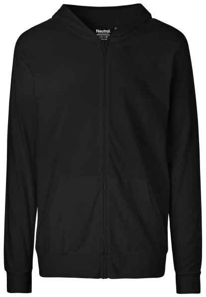 Jersey Zip-Jacke black Neutral Bio-Baumwolle 62301