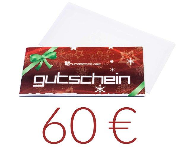 60,- EUR Geschenkgutschein - Weihnachtsdesign