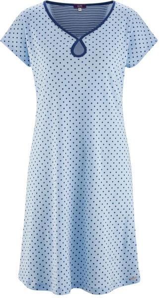 Nachthemd aus Bio-Baumwolle – bleu/dots