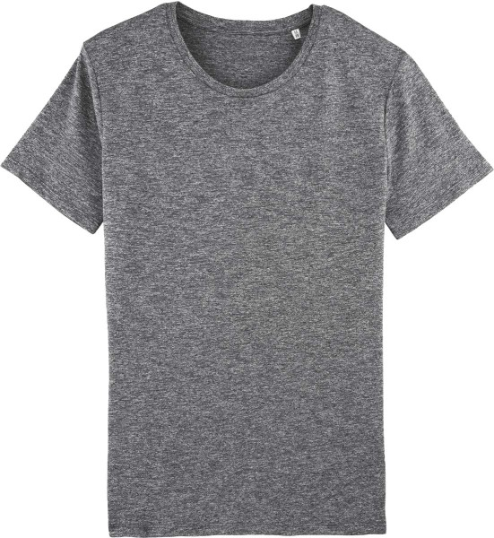 T-Shirt aus Bio-Baumwolle - slub heather black