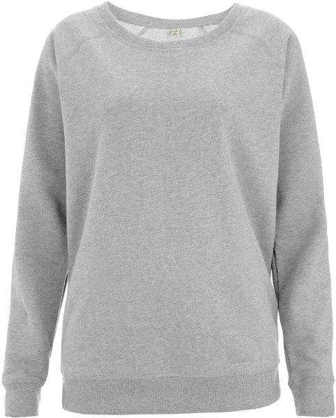 promo code 578cb 40570 Organic Raglan Sweatshirt - grau meliert