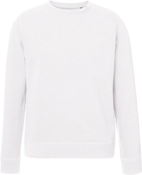 Unisex Sweatshirt aus Bio-Baumwolle weiß