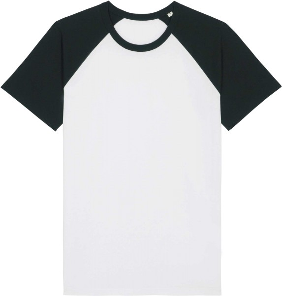 Unisex Baseball-Shirt aus Bio-Baumwolle - white/black