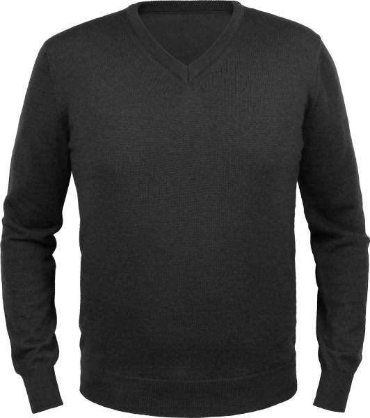 Merino-Pullover V-Ausschnitt - Made in Germany - schwarz - Bild 1
