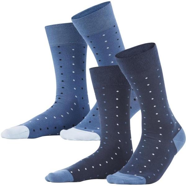 Herren Socken aus Bio-Baumwolle - 2er-Pack - dark navy/infinity blue