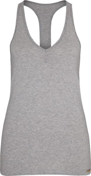 Ringershirt aus Fairtrade Biobaumwolle - grau-melange