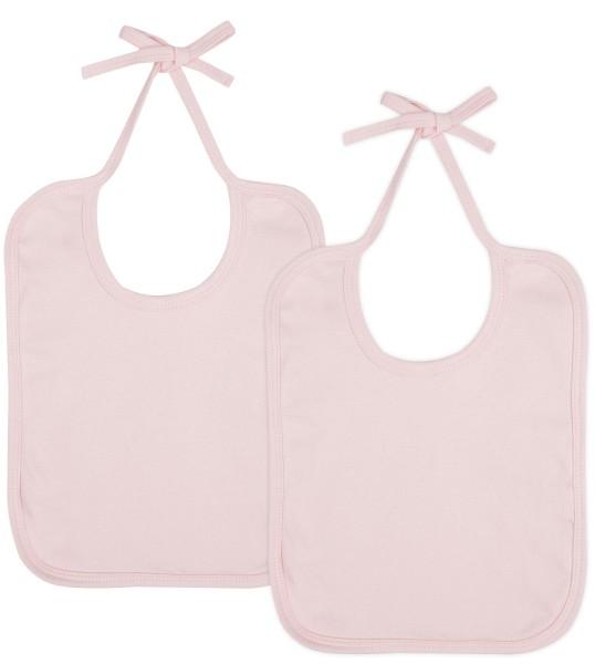 Baby Lätzchen aus Bio-Baumwolle Doppelpack - powder pink