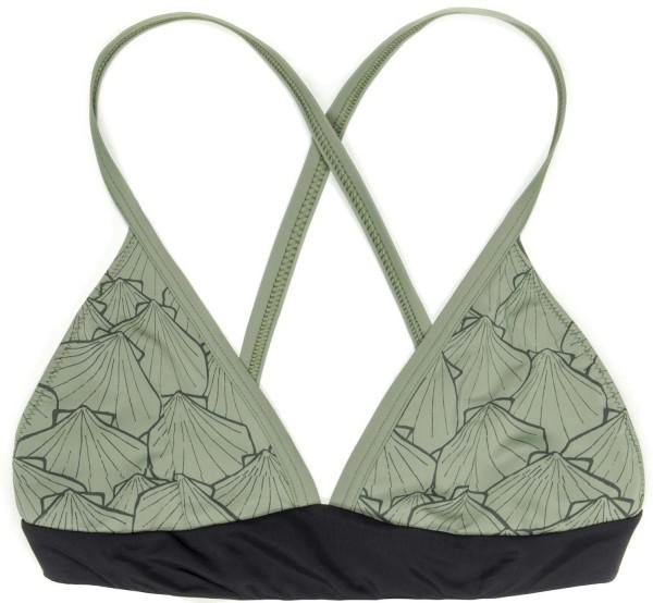 Eco Triangel Bikini Oberteil - olivgrün