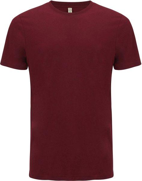 Recycled T-Shirt aus Baumwolle und Polyester - burgundy