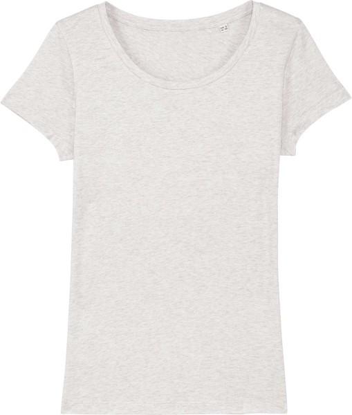 Jersey-Shirt aus Bio-Baumwolle - cream heather grey