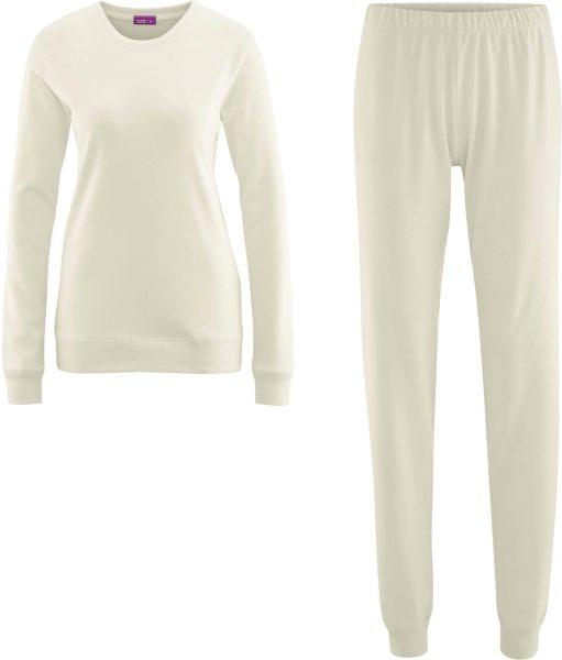 Frauen Schlafanzug aus Bio-Baumwolle - natur