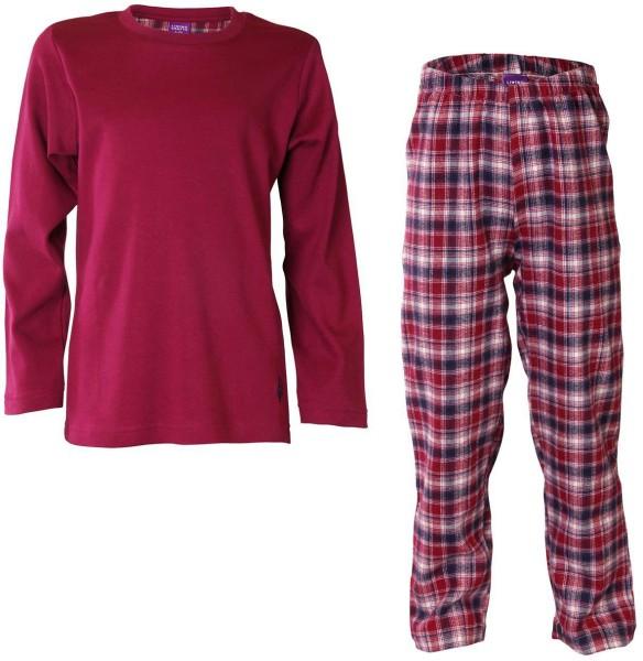 Kinder Schlafanzug aus Bio-Baumwolle - grenadine check - Bild 1