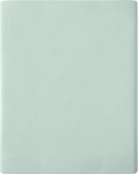 Satin-Spannbetttuch aus Bio-Baumwolle 160x200cm - mint