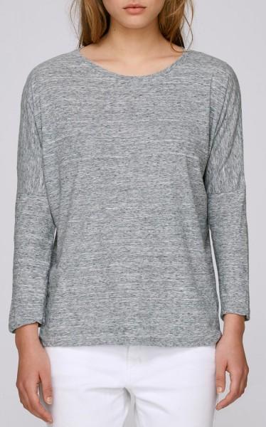 Oberteil aus Biobaumwolle - slub heather grey