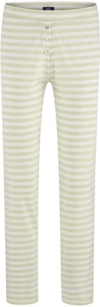 Schlaf-Hose aus Bio-Baumwolle - milky green/white