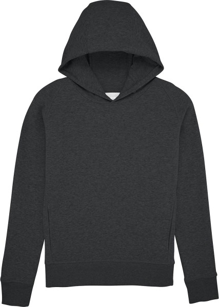 Hoodie mit Raglanärmeln Bio-Baumwolle - dark heather grey