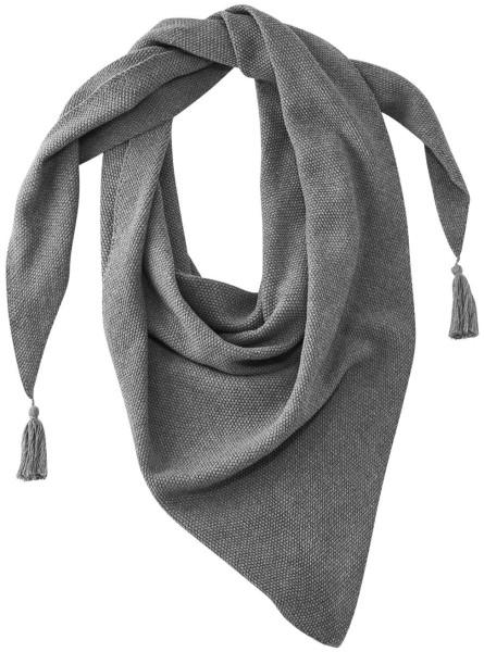 Dreiecks-Tuch Strick Bio-Baumwolle grau meliert