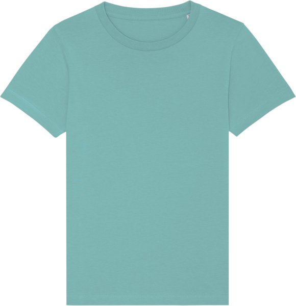 Kinder T-Shirt aus Bio-Baumwolle - teal monstera