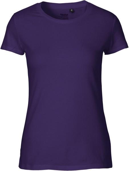 Fitted T-Shirt aus Fairtrade Bio-Baumwolle - purple
