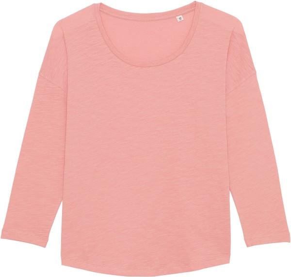 3/4-Arm-Shirt aus Bio-Baumwolle - canyon pink