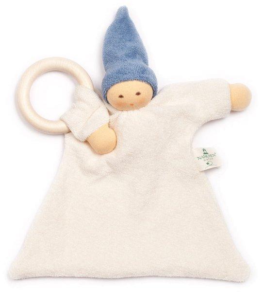 Ringnuckel Schmusepuppe/Tuch aus Bio-Baumwolle - blau - Bild 1