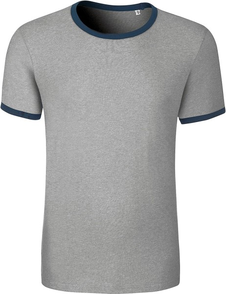 Retro T-Shirt aus Biobaumwolle - heather grey
