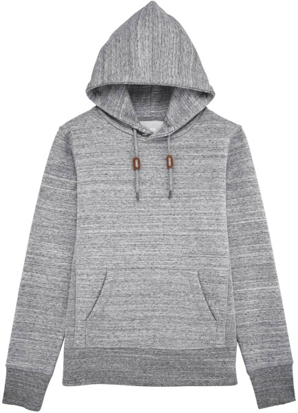 Extra schwerer Hoodie Bio-Baumwolle - slub heather grey