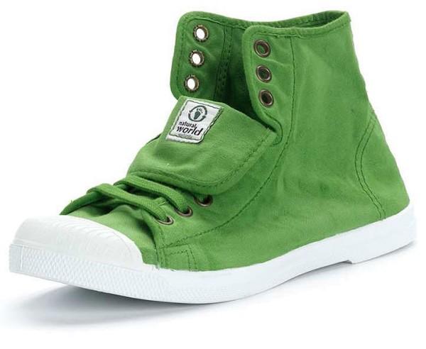 Bota Sport - Hohe Sneakers aus Bio-Baumwolle - verde - Bild 1