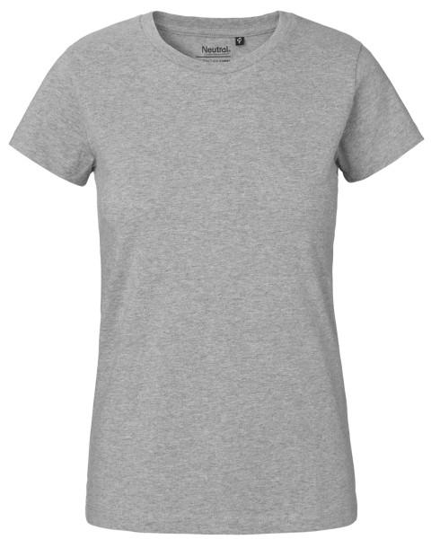 Damen Classic T-Shirt grau Fairtrade - O80001